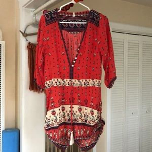 spell & the gypsy 3/4 sleeve romper